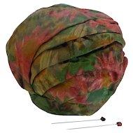 Vintage Adolfo Sardina Designed Emme Hat for Neiman Marcus Salon Bubble Turban Silk Taffeta  MINT