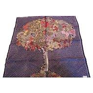 Vintage Echo Silk Tree of Flowers & Fruit Scarf