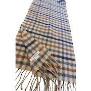 Vintage Johnstons of Elgin Camel Hair Scarf Scotland