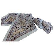 Vintage Cacharel Long Silk Chiffon Scarf