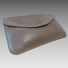 Vintage Michael Green -Taupe Envelope Clutch Leather