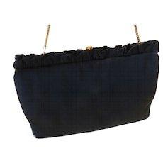 00201c538dd0 MM Morris Moskowitz Peau De Faille Black Gold Tone Evening Bag Clutch Purse