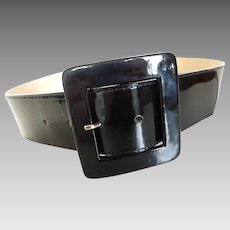 Gorgeous Leatherock Black Patent Leather Belt Med 32