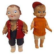 1957 Effanbee Mickey Doll & 1976 Bicentennial Campbell Soup Doll