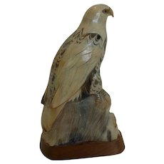 Barry Stein Signed Eagle Hand Carved Natural Horn