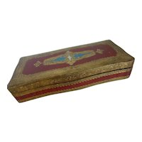 Italian Florentine Glove Box Keepsake Box