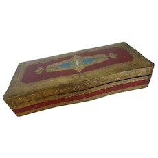 Italian Florentine Glove Box Keepsake Box