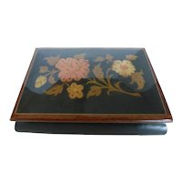 Vintage Italian Inlaid Wood Marquetry Music Jewelry Box