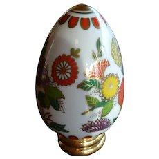 "Porcelain ""SATSUMA"" Egg with Stand Franklin Mint"