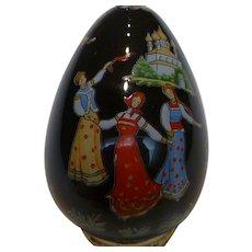 "Porcelain Painted Egg ""RUSSIAN LACQUER"" Franklin Mint"