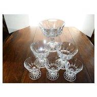 Elegant Heavy Crystal Cocktail or Sherbets Set of Six