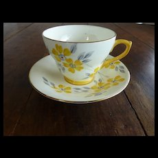 Sutherland Bone China Cup & Saucer Daisies England