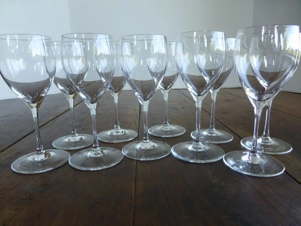 Vintage Peill Blown Crystal Cordials Set Of 10 Germany Historique Ruby Lane