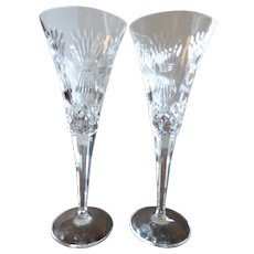 Waterford Crystal Millennium Collection Prosperity Toasting Flutes