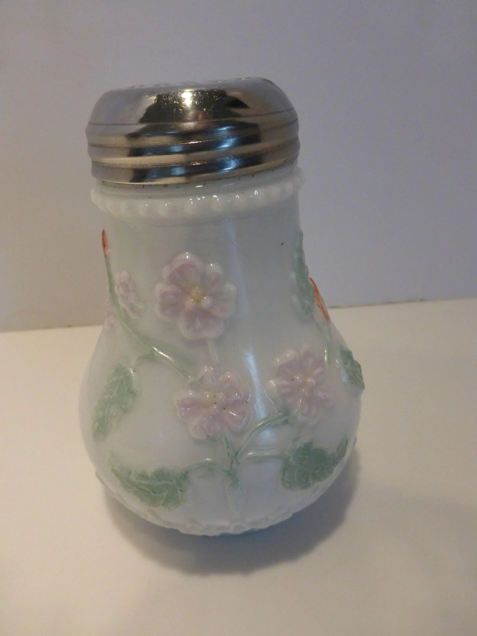 Antique Eagle Glass Co Milk Glass Sugar Shaker With