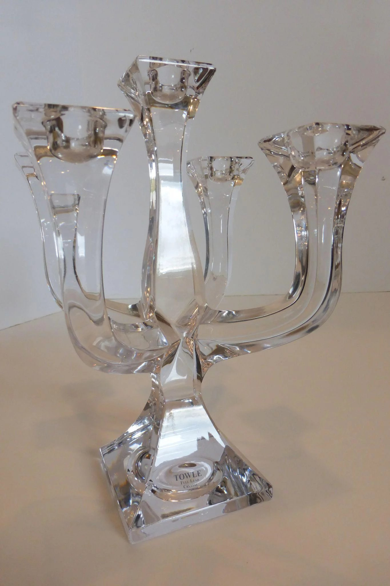 Towle five arm lead crystal candelabra austria historique ruby click to expand floridaeventfo Image collections