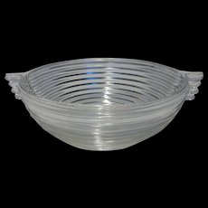 Anchor Hocking Manhattan Crystal Lrg Fruit Bowl w Handles