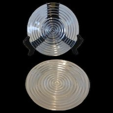 Anchor Hocking Manhattan Crystal Bread and Butter Plates (Pair)