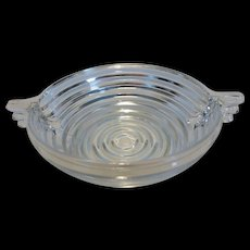 Anchor Hocking Manhattan Crystal Small Fruit/Dessert Bowl w handles