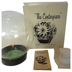 1970's Flower Glass Globe Aquarium New in Original Box