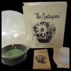 1970's Flower Glass Globe Aquarium New in Original Box
