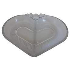 Duncan Miller 'Teardrop' Glass Heart Divided Relish Dish