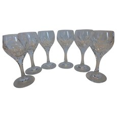 Vintage Gorham Crystal Cordials Sonja Cut Panels Set of 6
