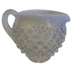 Fenton French Opalescent Hobnail Squat Jug Small Pitcher