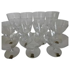 "Mid-Century Crystal Stonegate Stemware ""Bavarian Countess"" Made in Holland 11 Pcs"
