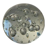 Crystal Ball Paperweight Clear w Controlled Bubbles Made in Sweden