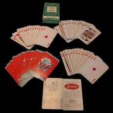 Vintage ARRCO Playing Cards Tom Thumb Junior Size Green Box w Seal Complete