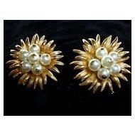 Boucher Pearl Cluster Earrings