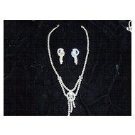Vintage Ice & Smoke Crystal Rhinestone Demi Parure