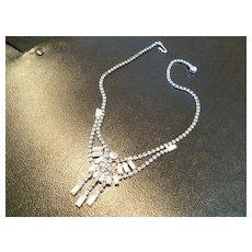 Japan Rhinestone Cascade Necklace
