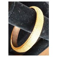 Vintage Gold Tone Metal Mesh Bangle Bracelet