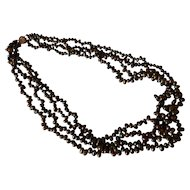 Multi-Strand Bronze Fresh Water Keshi Pearl Necklace