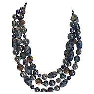 Vintage VendÔme 3-Strand Bead Necklace