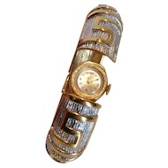 Vintage ORIS Hinged Cuff Bracelet Watch 17 Jewel Swiss Made
