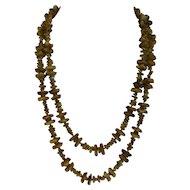 Peridot Gemstone Nugget Necklace