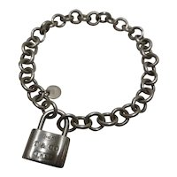 Authentic Tiffany & Co. Sterling Silver Bracelet with Padlock