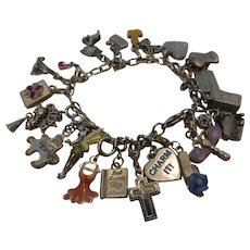 Charm Bracelet with Charms of Childhood