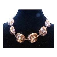 Mid-Century Modernist Copper Link Necklace