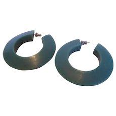 Big Lucite Hoop Earrings Vintage 1960's