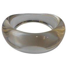 Vintage Clear Lucite Bangle Bracelet