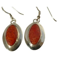 Sterling Silver Carnelian Drop Earrings