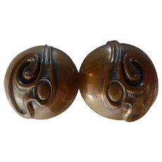 Renoir Copper Modern Art Earrings