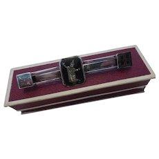 Vintage Siam Silver Niello Tie Clip  Pin Goddess Motif