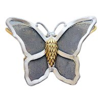 Original by Robert Mixed Metal Butterfly Brooch Signed
