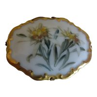 Vintage Rosenthal Germany Hand Painted Porcelain Brooch