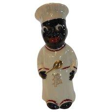 Vintage Ceramic Black Americana Cook Pepper Shaker